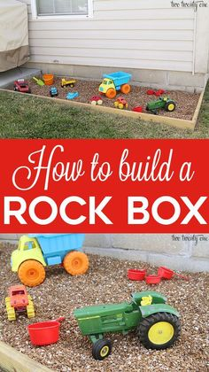 How to build a rock box! Cleaner than a sandbox! #howtobuildaplayhouse