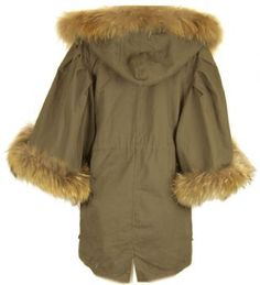 NEW WOMENS 100% REAL FUR HOODED PARKA LADIES PLUS SIZE FISHTAIL COAT JACKET (1)