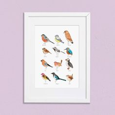 Nova and Me A4 Birds Print – And so to Shop Goldfinch, New Home Gifts, Wren, Bird Prints, Gifts For Women, A4, Nova, Birds, Watercolor