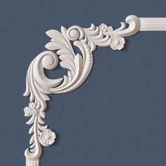 10 molding corners collection 3d model obj 9