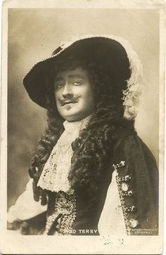 Antique Real Photo Postcard - Fred Terry as Charles II in 'Sweet Nell' c. 1902