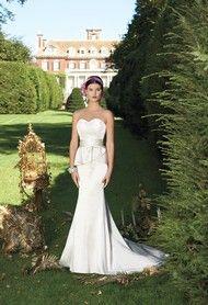 Strapless Lace Peplum Wedding Dress- Group USA