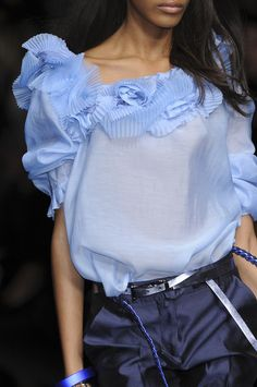 Ermanno Scervino at Milan Fashion Week Spring 2009. Photo from ImaxTree. Via www.stylebistro.com