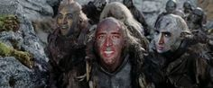 Nicolas Cage as some Orcs in The Lord of the Cage: The Two Cages