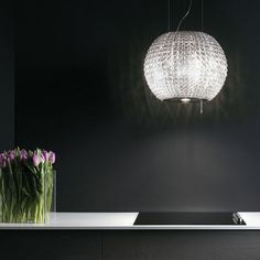 Buy Elica CELESTIAL Designer Ceiling Mounted Island Cooker Hood Glass and Stainless Steel from Appliances Direct - the UK's leading online appliance specialist Island Cooker Hoods, Island Hood, Stainless Steel Appliances, Cuisines Design, Chandelier, Ceiling Lights, Celestial, Lighting, Glass
