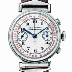 #TBT Girard-Perregaux Doctor's watch, from the 1960's This type of watch was worn by physicians so that they could take their patients' pulses. The chronograph hand is linked to a pulsometric scale which can indicate the heart rate on the dial after only 30 beats of the pulse. #doctor #watch #watchmaking #watchgeek #time #timepiece #history #tradition #heritage #chronograph #chrono #pictureoftheday #manufacture #craft #girardperregaux #montre #uhren