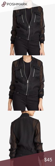 NWT LAUREN RALPH LAUREN bomber jacket Brand new beautiful jacket. Sheer, very soft and comfortable material. So cute- too bad it's a little too small for me :( Lauren Ralph Lauren Jackets & Coats