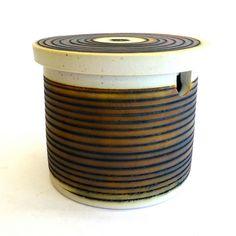 Derek Smith, Blackfriars Pottery - sugar bowl (cobalt blue inside).
