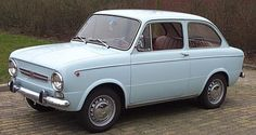 """1968 Fiat 850.  I fell in love with these cars when I was 10, the year we spent in Europe.  I called it a """"Squashback Fiat"""""""