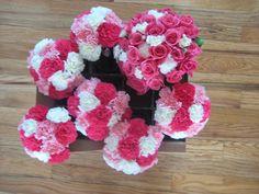 carnation wedding flower set
