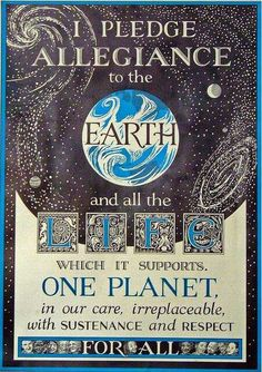 pledge allegiance to the earth