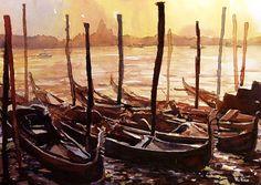 Venice Gondolas by Ryan Fox at Waverly Artists Group.