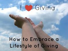 """Lent is the perfect time to embrace a lifestyle of giving. Tips from @A Catholic Newbie and the book """"I Like Giving"""""""