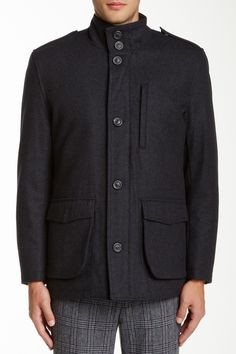 Terry Wool Blend Jacket by Andrew Marc on @nordstrom_rack