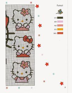 Diagramas de hello Kitty en punto de cruz