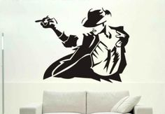 "Amazon.com: Michael Jackson Portrait Silhouette Wall Art Decal Decor Boy's Bedroom Dorm Home Vinyl Sticker Mural Birthday Gift Collectibles - 24""X18"" Black: Home & Kitchen"