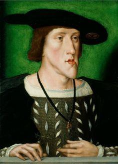 CARLOS I - V de Austria (1500 - 1558), Emperador del Sacro Santo Imperio Romano Germánico, Rey de las Españas y de las Indias.