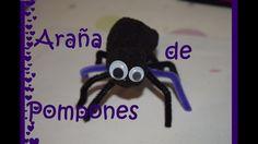 Araña de Pompones - Tutorial - DIY