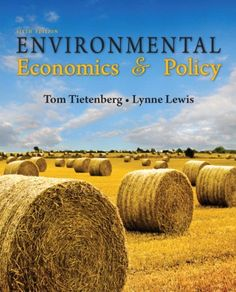 Environmental economics and policy (6th edition) (PRINT VERSION) http://biblioteca.cepal.org/record=b1252311~S0 This book provides a broad but nuanced introduction to the field of environmental economics. Topics include Visions of the Future; Valuing the Environment: Concepts; Valuing the Environment: Methods; Property Rights, Externalities, and Environmental Problems; Sustainable Development: Defining the Concept; The Population Problem; Natural; Biodiversity I - Forest Habitat...