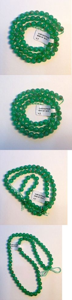 Other Loose Gemstones 282: Apple Green Chrysoprase 6Mm Smooth Polished Round Beads, 15 , Semi-Translucent -> BUY IT NOW ONLY: $36 on eBay!