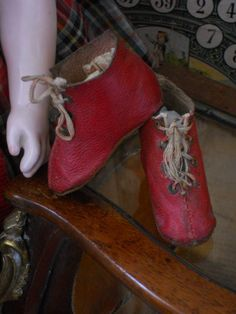 ~~~ Early French Fashion Shoes with Heels ~~~ from whendreamscometrue on Ruby Lane