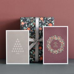 Greeting card Little Forest, Ilex And Berries, gift wrap Ilex And Berries by Haferkorn & Sauerbrey