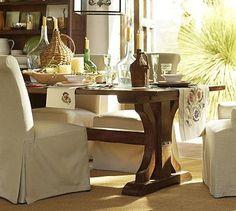 Mahogany Verona Trestle Tablemahogany Verona Trestle Table Endearing Dining Room Sets Pottery Barn Design Inspiration