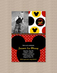 Mickey party for the big 2! Yes, I'm already planning it!