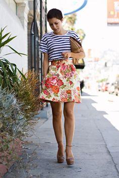 florals and stripes! Genius!