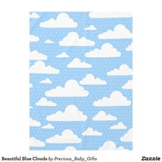 Beautiful Blue Clouds Tablecloth