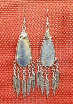 Check out this item in my Etsy shop https://www.etsy.com/listing/485339569/bohemian-statement-kyanite-earrings