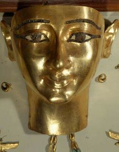 Funerary mask of Wendjebauendjed,from the Tomb NRT III at Tanis.Third Intermediate Period,21st Dynasty c.a.1069-945 B.C. Wendjebauendjed was an ancient Egyptian general,high dignitary and high priest during the reign of pharaoh Psusennes I of the 21st Dynasty.