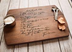 Handwritten Recipe Cutting Board Grandma's Handwriting   Etsy Custom Cutting Boards, Engraved Cutting Board, Personalized Cutting Board, Bamboo Cutting Board, Wood Cutting, Butcher Block Conditioner, Custom Engraving, Wood Engraving, How To Take Photos