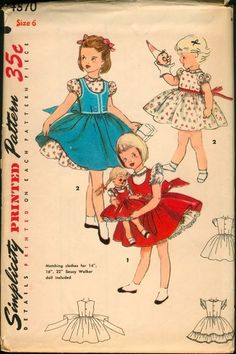 Selection of vintage sewing patterns for children's clothing to miniaturize & place in the dollhouse sewing basket | Source: Found in Mom's Basement