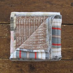 Ace and Jig Market Raffia Patched Quilt