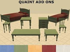 Mod The Sims - Quaint Add-Ons & Recolours