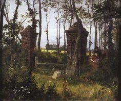 Старые ворота. Вель. Нормандия. Василий Поленов. Картина, пейзаж, живопись, фото