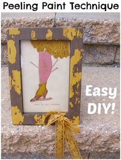 This Peeling Paint Technique tutorial is demonstrated on a picture frame, which you can then adapt to larger pieces including furniture. An easy DIY!