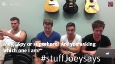 Answering questions with Joey Stamper. Reason #6: #stuffJoeysays. this is why Joey is my favorite