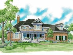 Country House Plan with 2923 Square Feet and 3 Bedrooms from Dream Home Source | House Plan Code DHSW42325