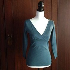 FLASH SALE ♥️ Peacock blue Michael Stars knit top Amazing color, flattering fit. Michael Stars 3/4 length sleeves knit top. Never worn. Michael Stars Tops