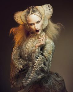 Hair sculpture or hair weaving? - Hairdressing by Indira Shauwecker from Toni and Guy 2011  #photographer #art #fashion #inspiration #Hairdressing