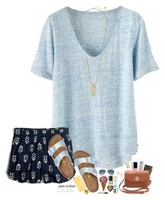 """The weather in Mississippi is so beautiful today!"" by hopemarlee ❤ liked on Polyvore featuring Wrap, Madewell, Birkenstock, Louis Vuitton, Tory Burch, Urban Decay, Ray-Ban, Kendra Scott, NARS Cosmetics and Maybelline"