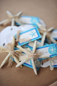 beach theme seating tags