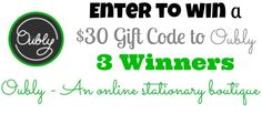 Premium Business Cards from Oubly - 3 WINNERS get a $30 gift code to shop! Ends 4/29