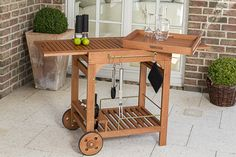 Merxx Servierwagen, Eukalyptusholz geölt/natur - Maße: 60 x 75 kaufen
