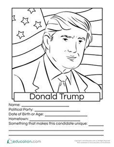 Donald Trump Coloring Page : donald, trump, coloring, Trump