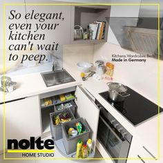 Nolte Küchen Arbeitsplatte Asteiche Natur. Manhattan Kitchens With  Innovative Solutions That Maximise Space Efficiency. Easy Access. Easy  Storage