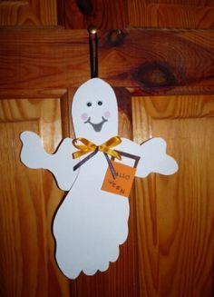 Kreatív ötletek: Halloween szellem ajtódísz
