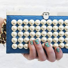 DIY It Tonight! Make a Pearl Clutch in 3 Easy Steps  #InStyle